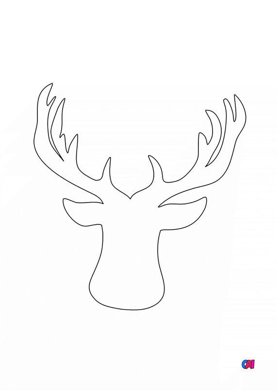 Coloriage de Noël - Empreinte de renne