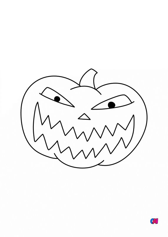 Coloriages Halloween - Citrouille 6