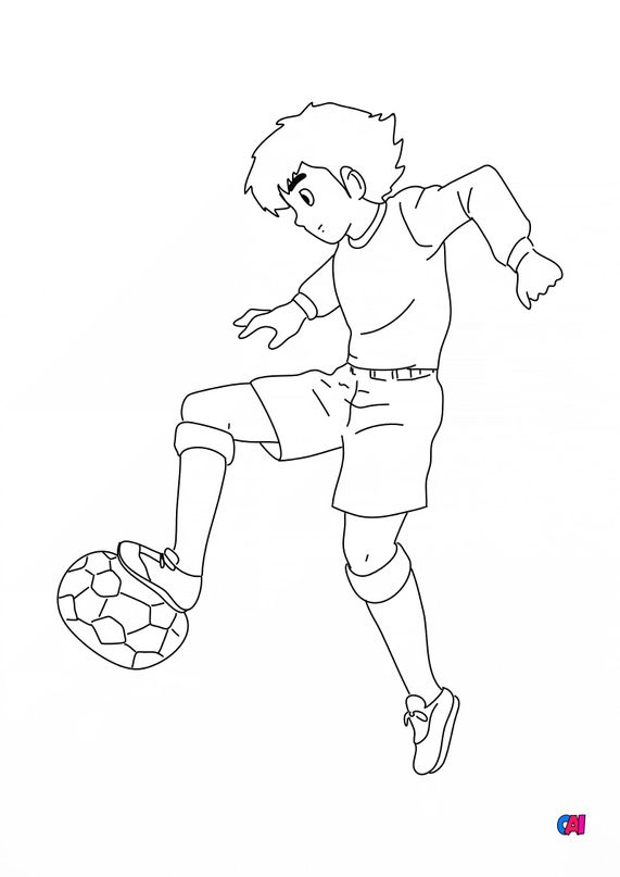Coloriage Football - Olive