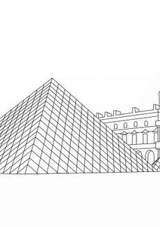 Coloriage La Pyramide du Louvre