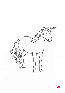 Coloriage une grande licorne