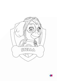 Coloriage Stella - Badge