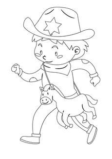 Coloriage Petit cowboy