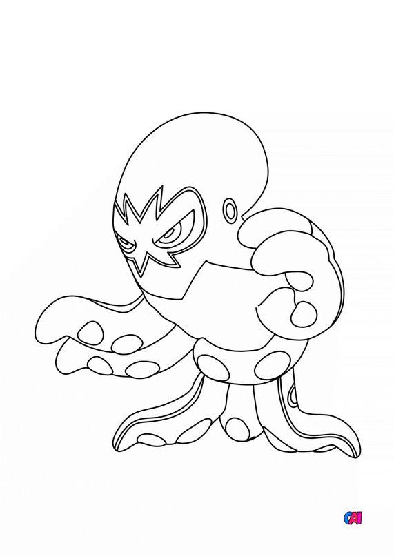 Coloriage Pokémon - 853 - Krakos