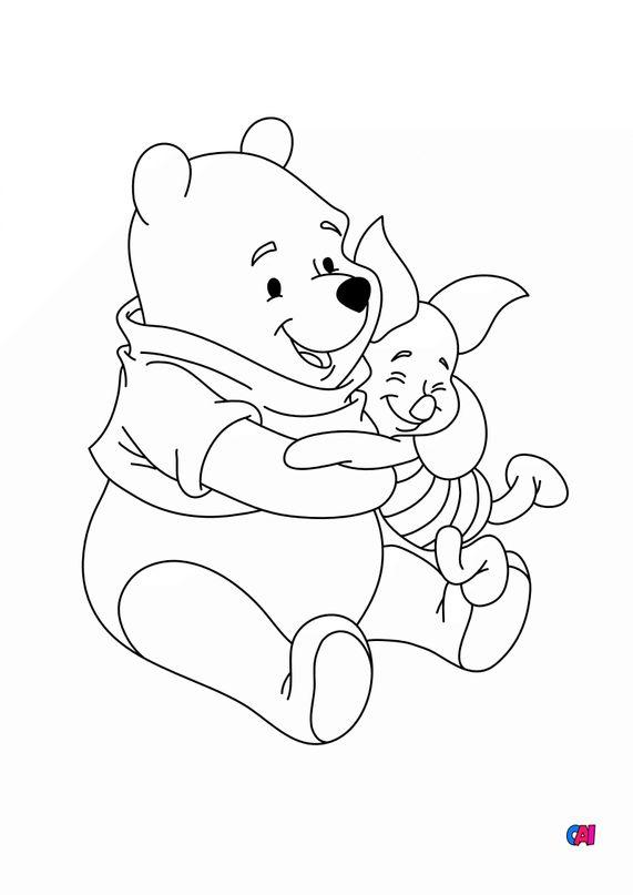 Coloriage Winnie l'ourson - Winnie et Porcinet