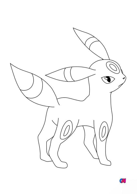Coloriage Pokémon - 197 - Noctali