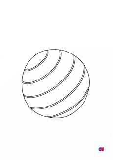 Coloriage Un ballon de plage