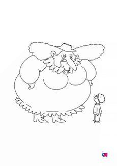 Coloriage Cornebidouille et Pierre