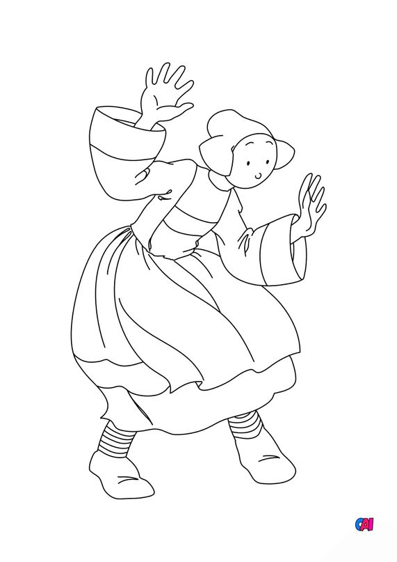Coloriage Bécassine - Bécassine surprise