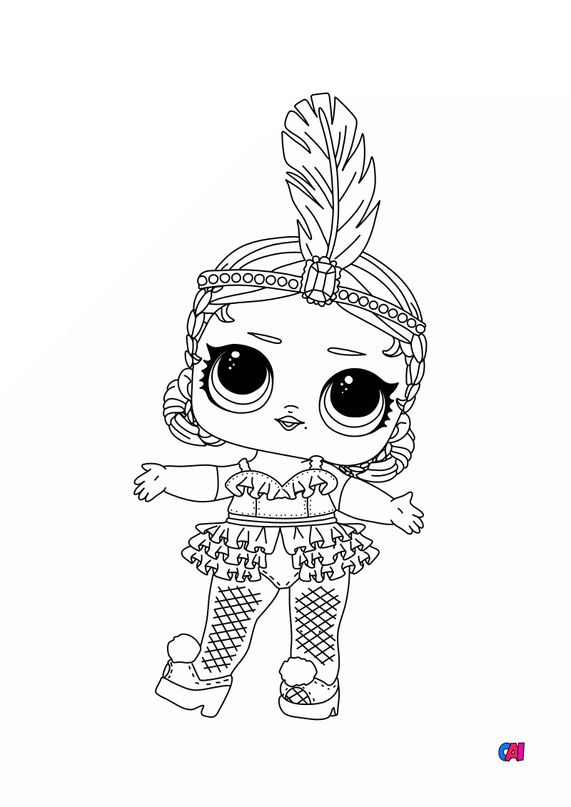 Coloriage Poupée Lol - Lol showbaby