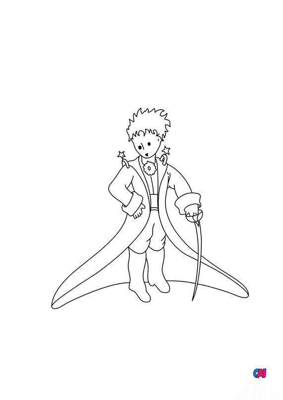 Coloriage Le petit Prince - Le petit prince en uniforme