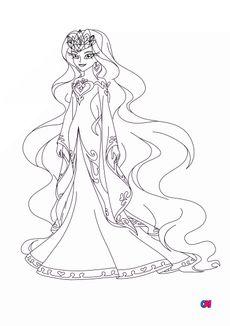 Coloriage Reine d'Ephedia