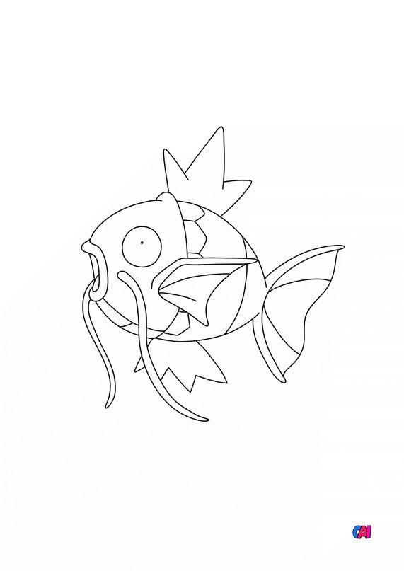 Coloriage Pokémon - 129 - Magicarpe