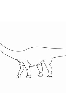 Coloriage Diplodocus