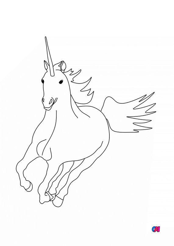 Coloriage Licornes - Licorne 2