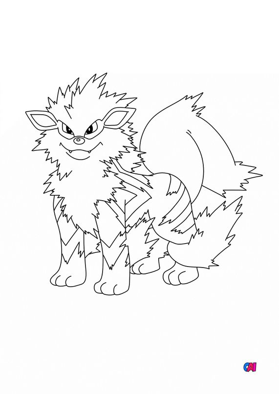 Coloriage Pokémon - 59 - Arcanin
