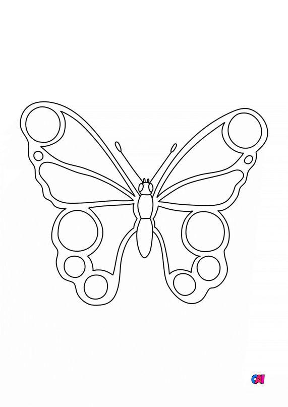 Coloriages d'animaux - Un papillon