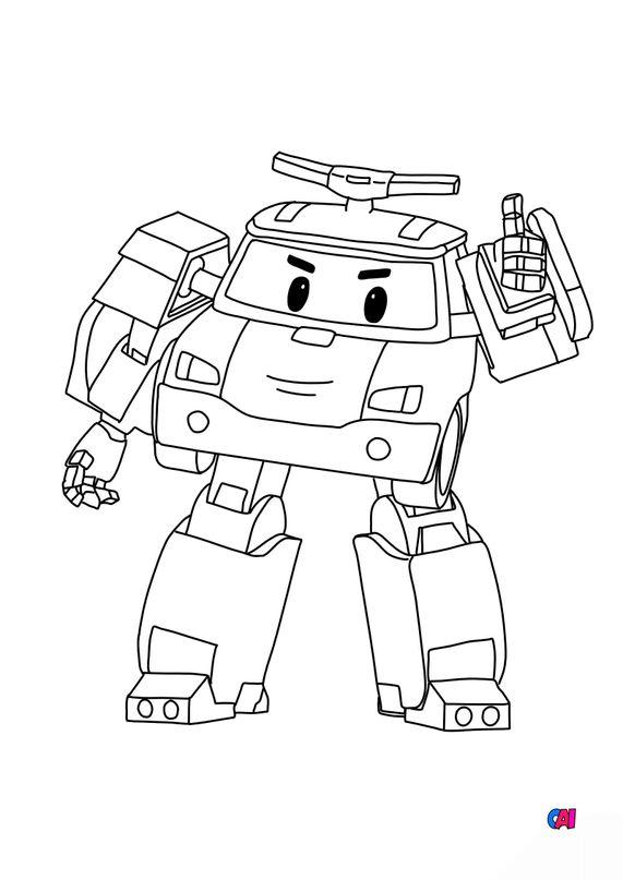 Coloriage Robocar - Poli robot