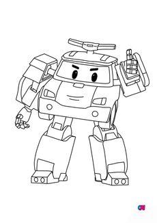 Coloriage Poli robot