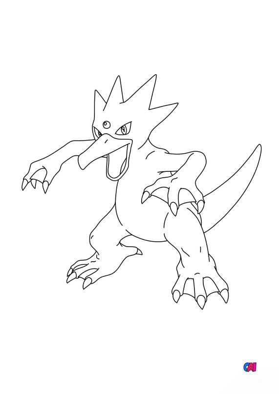Coloriage Pokémon - 55 - Akwakwak