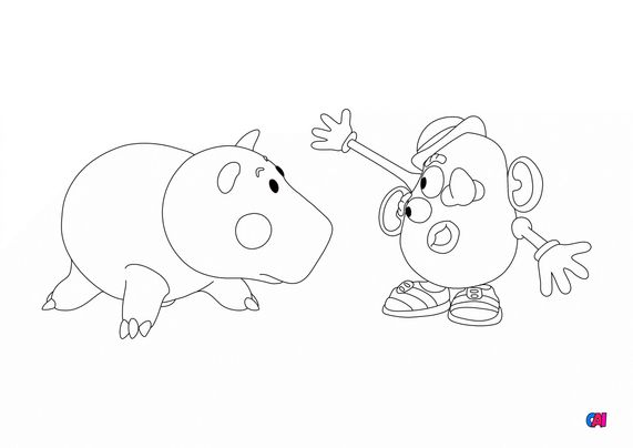 Coloriage Toy Story 4 - Bayonne hey regarde, je suis Picasso !