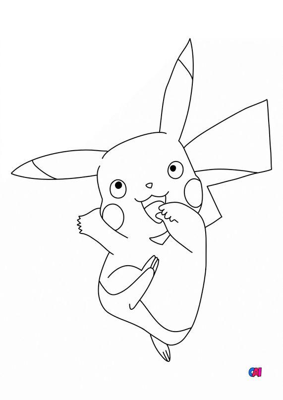 Coloriage Pokémon - Pikachu Pokemon