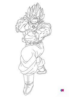 Coloriage San Goku kamehameha