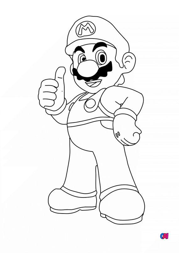 Coloriage Mario - Mario Bros