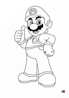 Coloriage Mario Bros