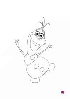 Coloriage Olaf saluant
