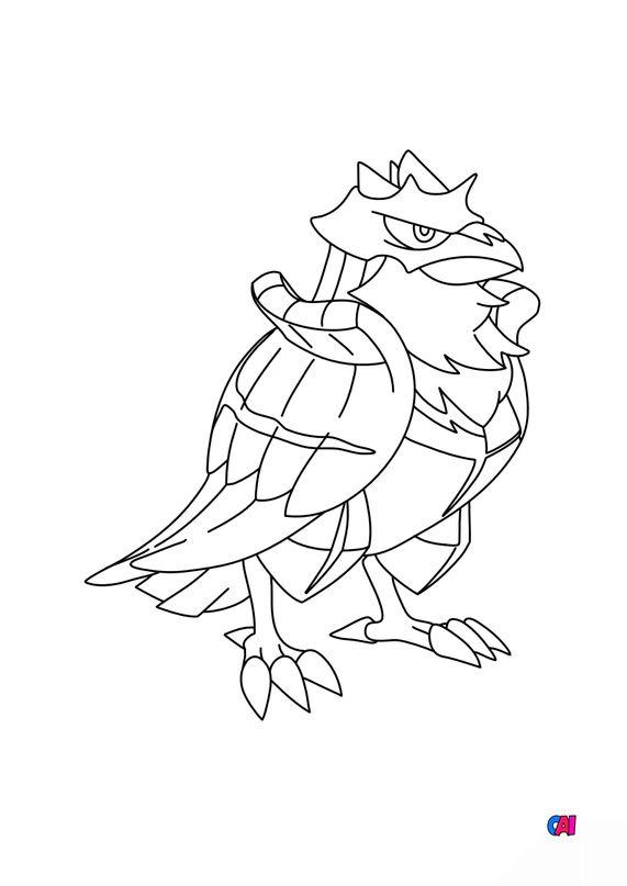 Coloriage Pokémon - 823 - Corvaillus