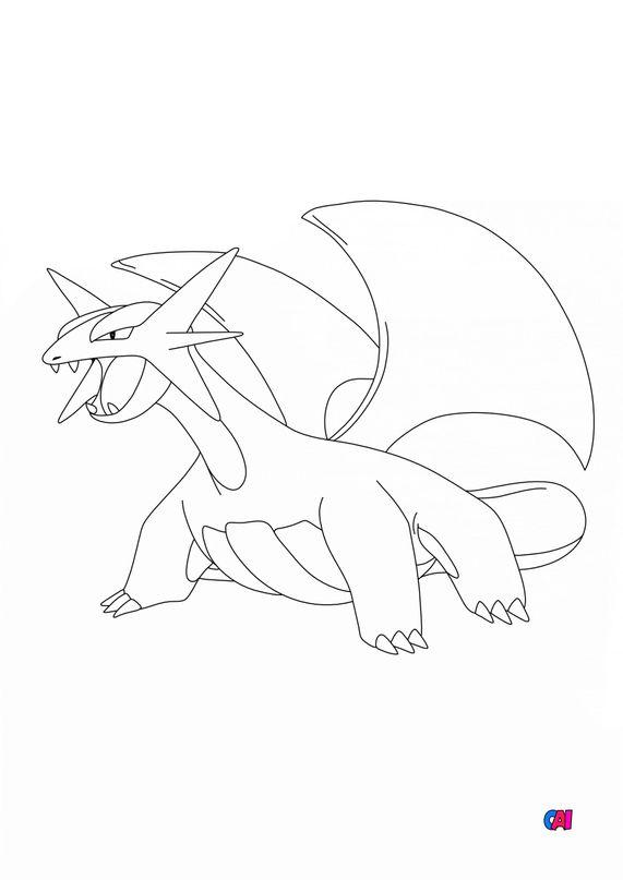 Coloriage Pokémon - 373 - Drattak