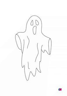 Coloriage fantôme errant