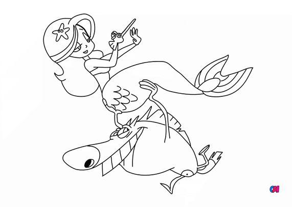 Coloriage de Zig et Sharko - zig et marina