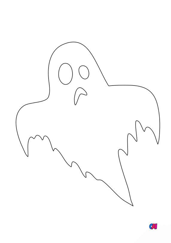 Coloriages Halloween - Fantôme 2