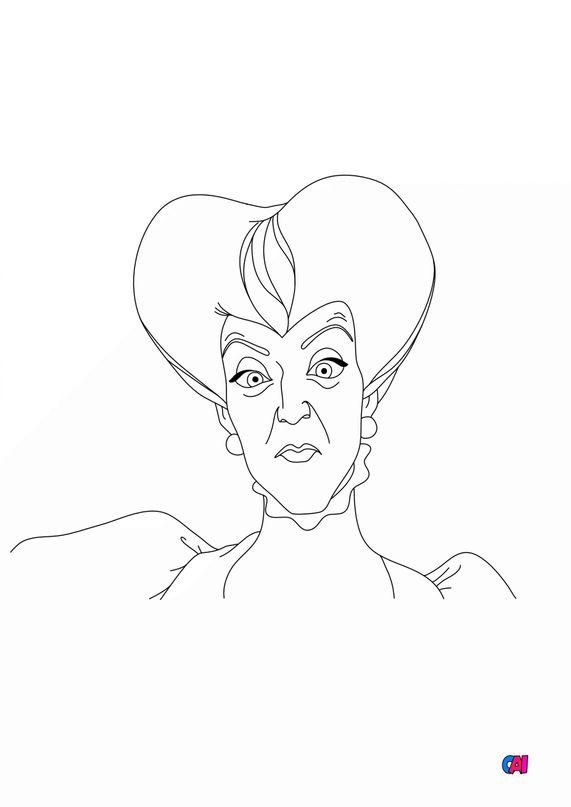 Coloriage Cendrillon - La belle mère de Cendrillon