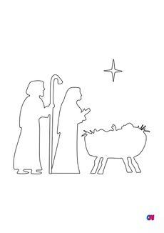 Coloriage La Nativité 2
