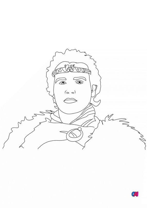 Coloriages de chevalier - Le roi Arthur