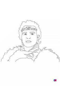 Coloriage Le roi Arthur
