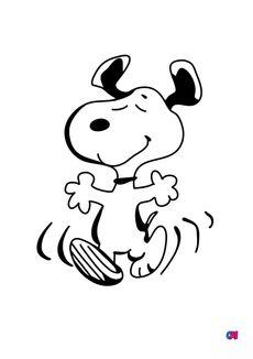 Coloriage Snoopy danse