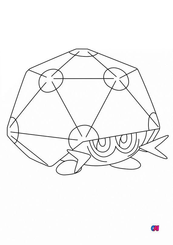 Coloriage Pokémon - 825 - Coléodôme