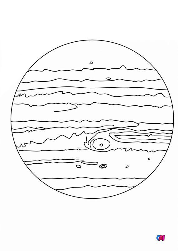 Coloriage d'Astronomie - Jupiter
