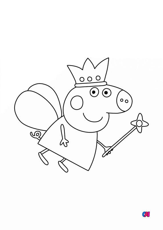 Coloriage Peppa Pig - Princesse Peppa