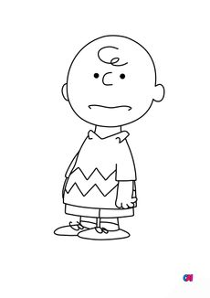 Coloriage Charlie Brown