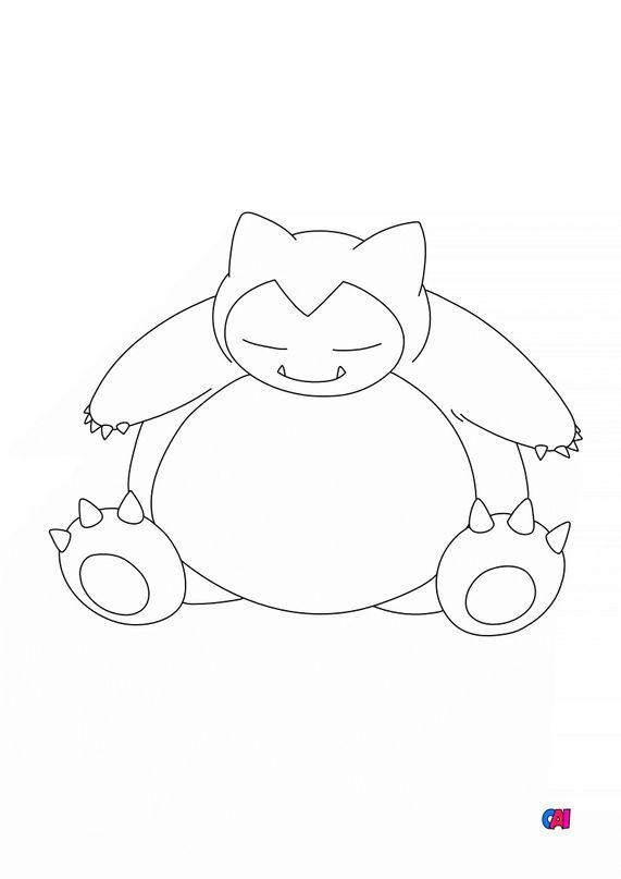 Coloriage Pokémon - Pokemon - 143 - Ronflex