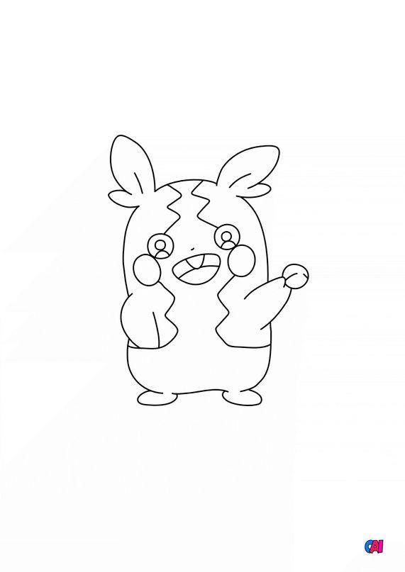 Coloriage Pokémon - 877 - Morpeko