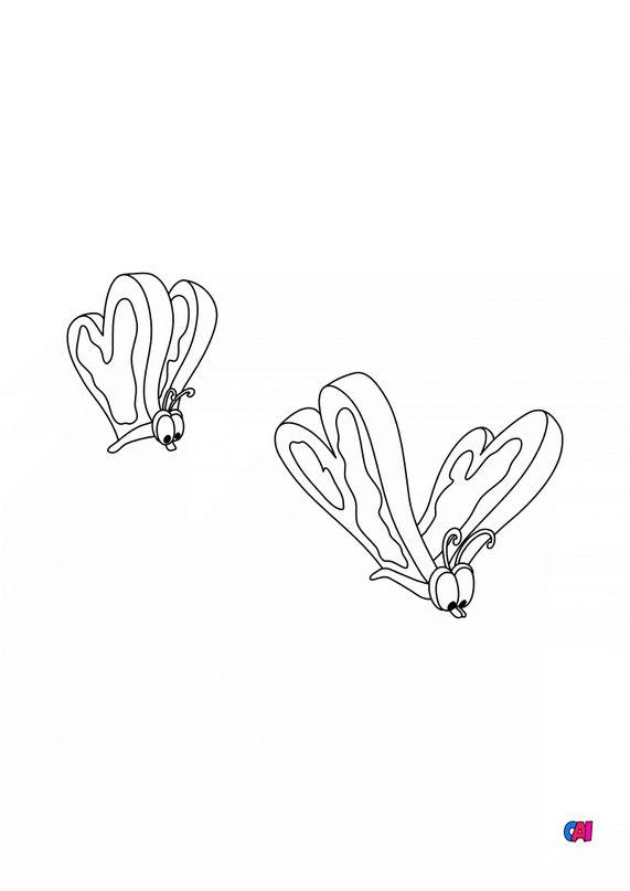 Coloriage Alice au pays des merveilles - Papillons-tartines-beurrées