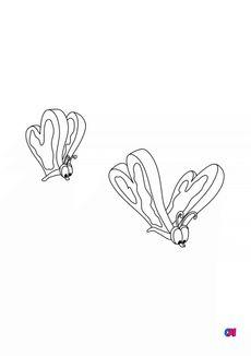 Coloriage Papillons-tartines-beurrées