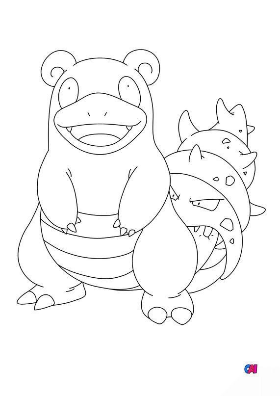 Coloriage Pokémon - 80 - Flagadoss