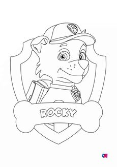 Coloriage Rocky